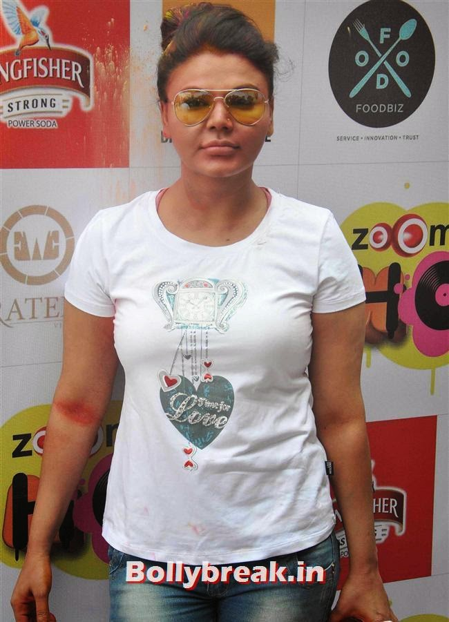 Rakhi Sawant, Sunny, Tanisha, Poonam & Kainaat at Zoom Holi Party 2014