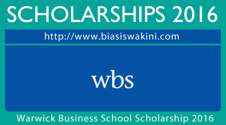 Warwich Business School Scholarship 2016
