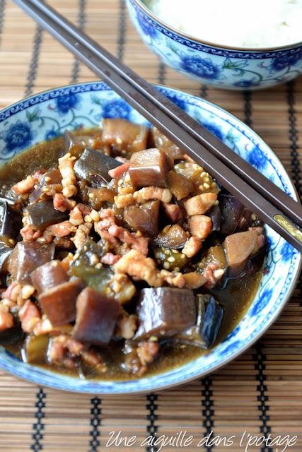 Aubergines sautées au porc, à la chinoise/ cuisine asiatique