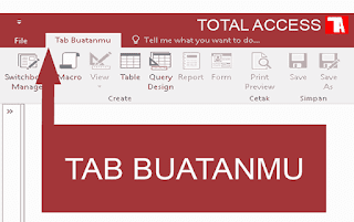 custom tab ribon ms access