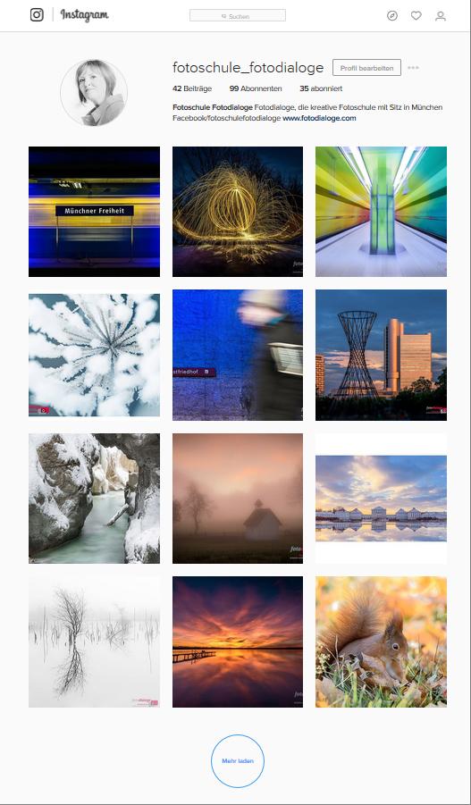 Fotoschule Fotodialoge aus München auf Instagram