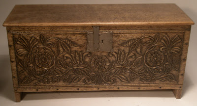miniature carved chest