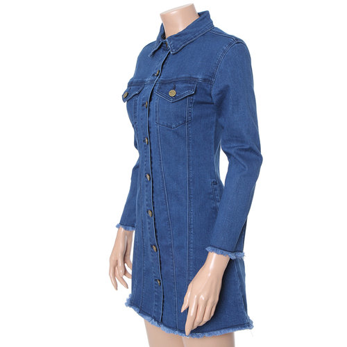 Span Slim Denim Dress