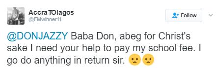Don Jazzy pays fan's school fees