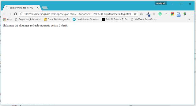 tutorial html lanjutan