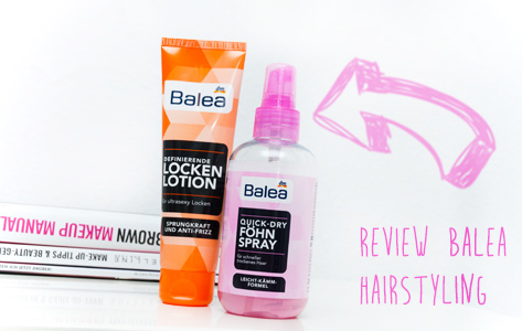Balea Hairstyling Locken lotion Föhn Spray Review