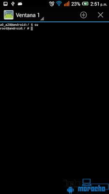 aplicación Terminal Emulator