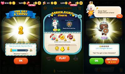 Screenshot gameplay LINE RUSH!