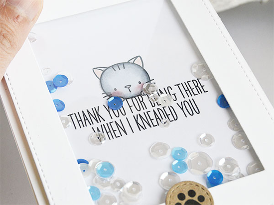 Thank Mew Flap Card by Inge Groot featuring the Birdie Brown Cool stamp set and the Blueprints 28 Die-namics #mftstamps