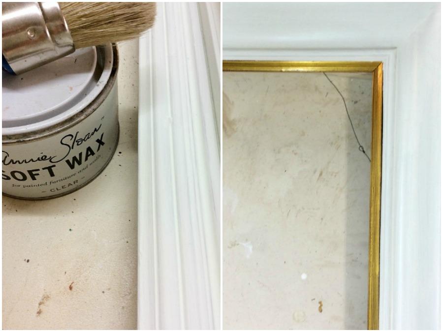Annie Sloan clear wax, old white chalk paint