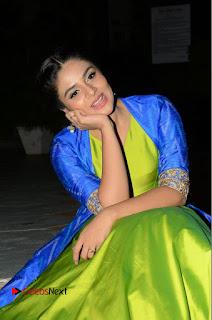 Telugu Cinema Actress Anchor Srimukhi Pictures at Rail Movie Audio Launch  0055