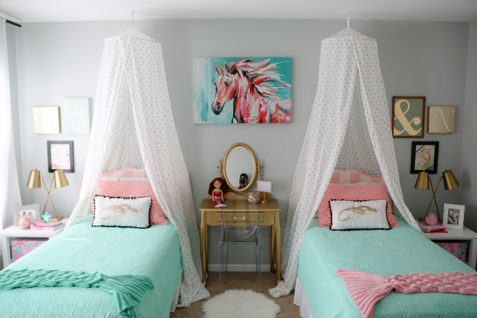 Girls Room: The Girls' Budget Friendly Mermaid Room