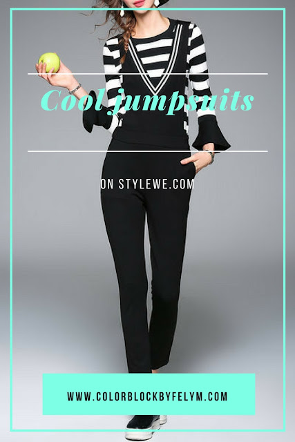 cool jumpsuits on stylewe.com selection of colorblockbyfelym.com dove acquistare jumpsuit on line mariafelicia magno fashion blogger