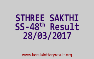 STHREE SAKTHI Lottery SS 48 Results 28-3-2017
