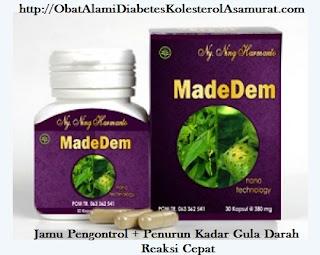Jual Obat Herbal Tradisional Alami Diabetes MADEDEM penurun Kadar Gula