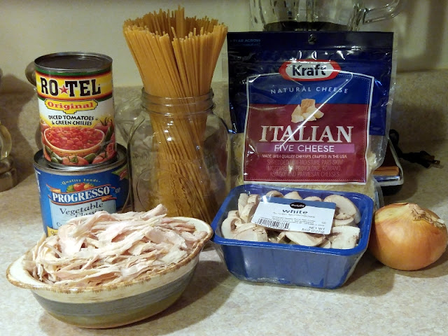 My WAHM Plan: Ingredients for Turned up Turkey Tetrazzini