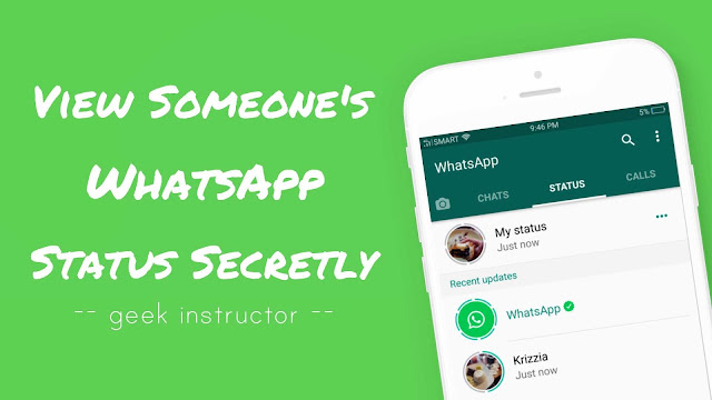 View someone's WhatsApp status secretly