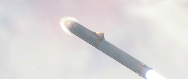 SpaceX BFR ascent from Earth