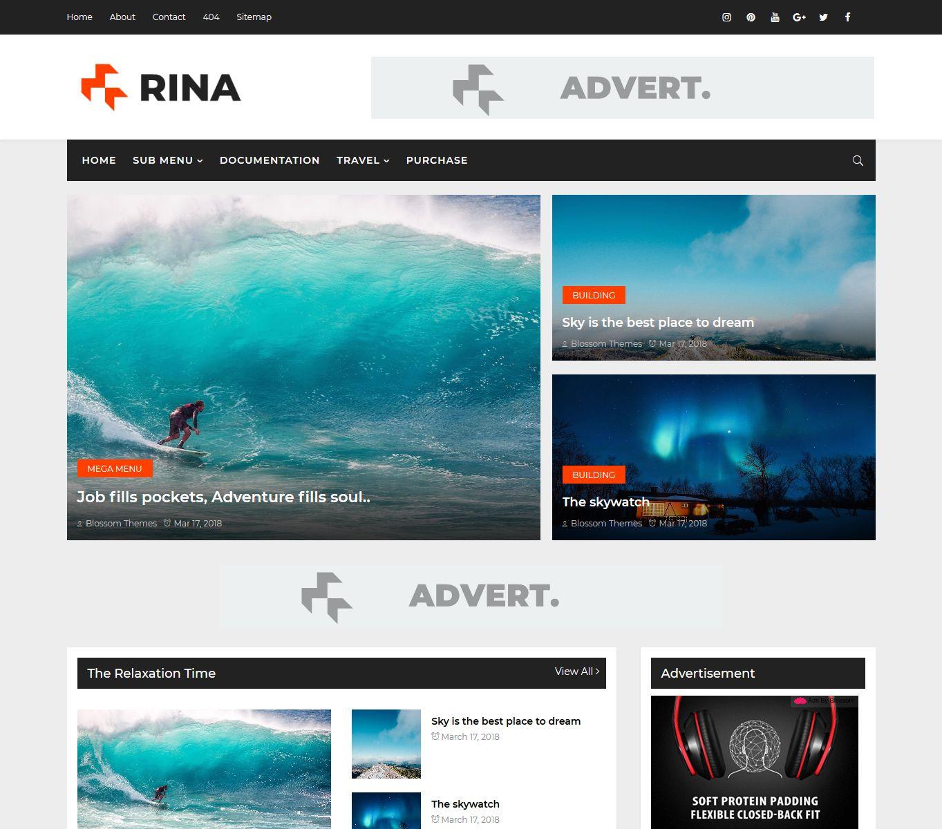 Rina Blogger Theme Blossom Theme Best Blogger Theme And Templates