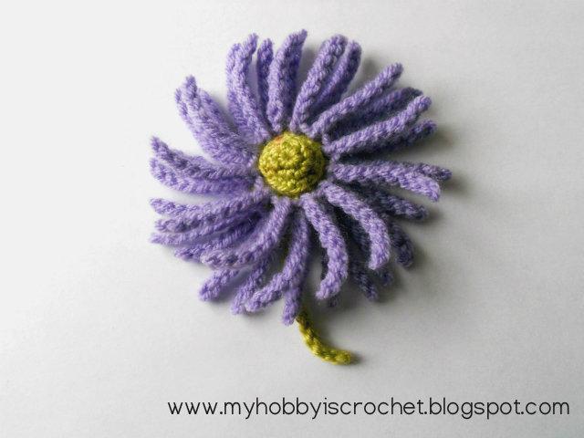 Michaelmas Daisy crochet free