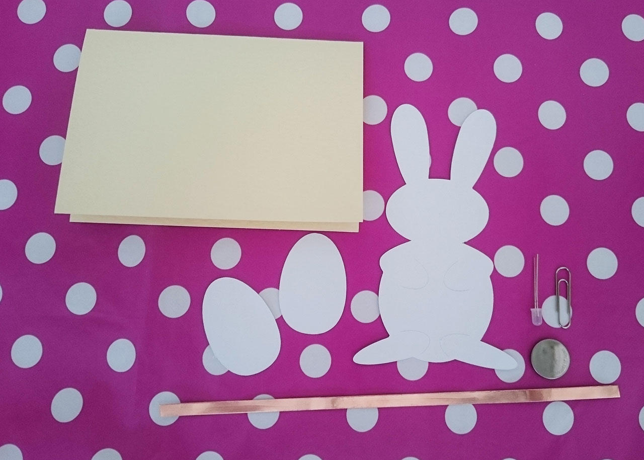 Easter Egg Circuit Will Makes Things Simple Paper Card With Flashing Led How To Make The