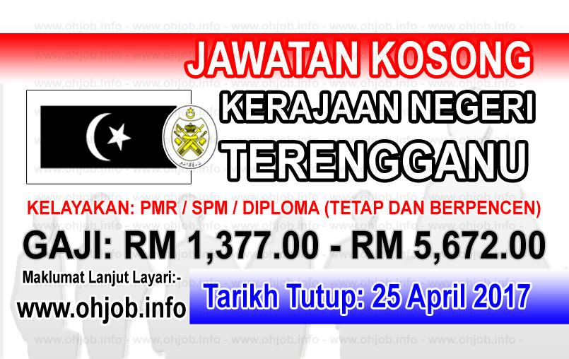 Jawatan Kerja Kosong Kerajaan Negeri Terengganu Darul Iman logo www.ohjob.info april 2017
