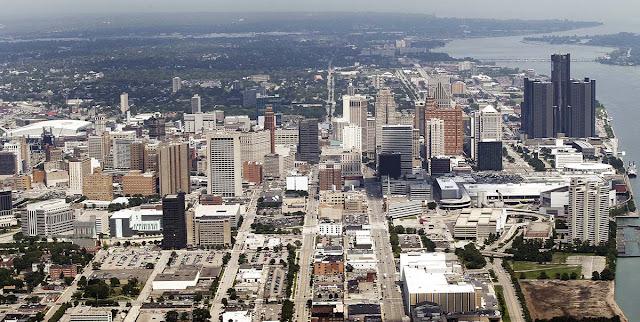 imagem aérea Detroit