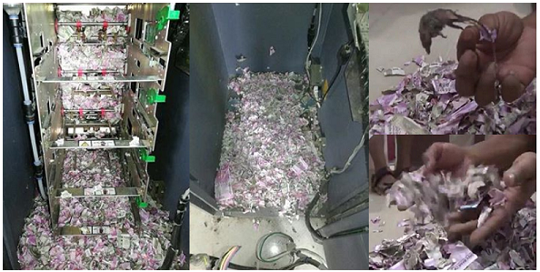 RATS BLAMED FOR EATING N17MILLION BANKNOTESIsnt it hilarious in Nigeria snake swallowed 36 million now in India RATS BLAMED FOR EATING N17MILLION  INSIDE INDIAN ATM (PHOTOS)