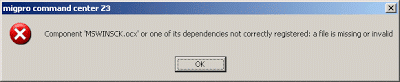 Cara Mengatasi Error MSWINSCK.ocx Not Correctly Registered di windows xp