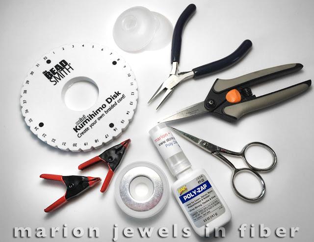 Tools for Flat Kumihimo Braid