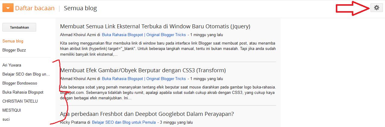 Cara Menghapus Blog yang Diikuti di Blogger