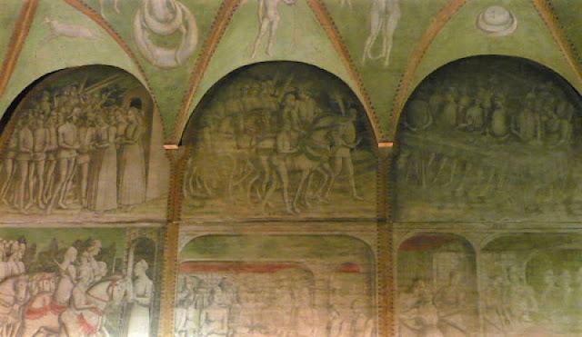 affreschi leonardo castello sforzesco