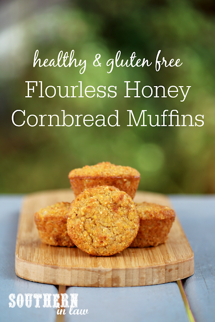 Healthy Flourless Honey Cornbread Muffins - gluten free, healthy, refined sugar free, dairy free, nut free, soy free, coconut flour, fluffy cornbread, clean eating recipes