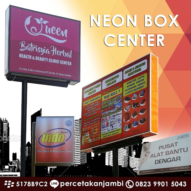 tempat buat neon box jambi