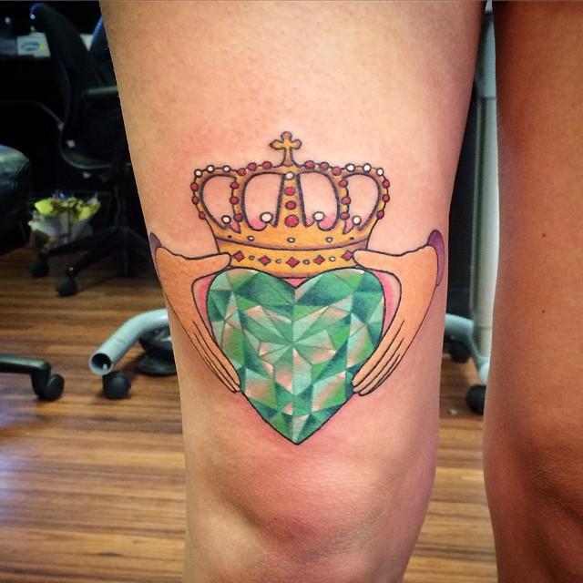 beautiful heart tattoo-11