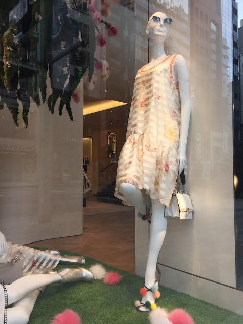 Window display at Fendi, Ginza