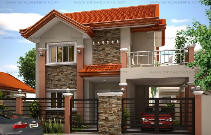 MHD 2012004 View1WM 700x450 - Download Two Storey House Design For Small Lot Area Pics