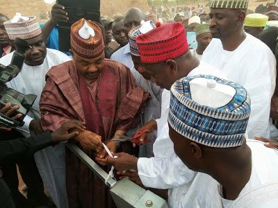 Kano State governor commissions hand pump borehole