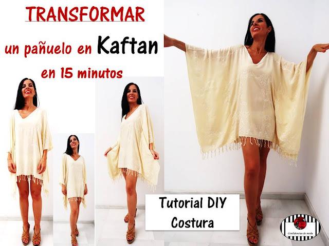 DIY. Transformar un pañuelo en un kaftan en 15 minutos