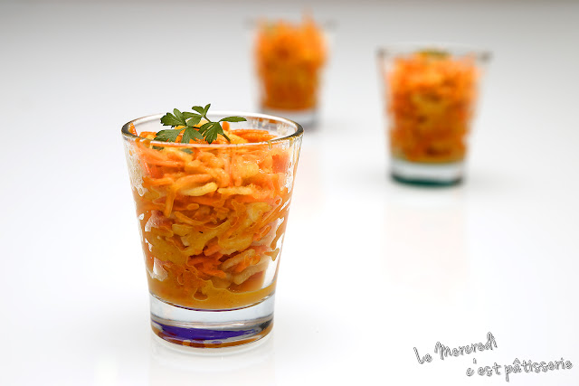 Salade de carottes et pommes Granny