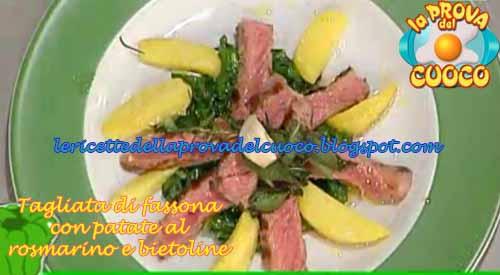Tagliata di fassona con patate e bietoline ricetta da la for Cucinare tagliata