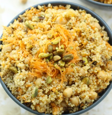 MOROCCAN QUINOA AND CHICKPEA SALAD