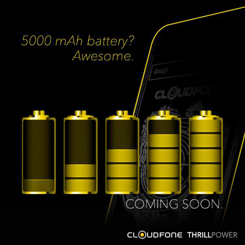 CloudFone Thrill Power Teased, Packed With 5000 mAh Battery!