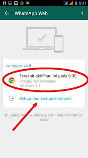 mengeluarkan pengintip whatsapp dari PC