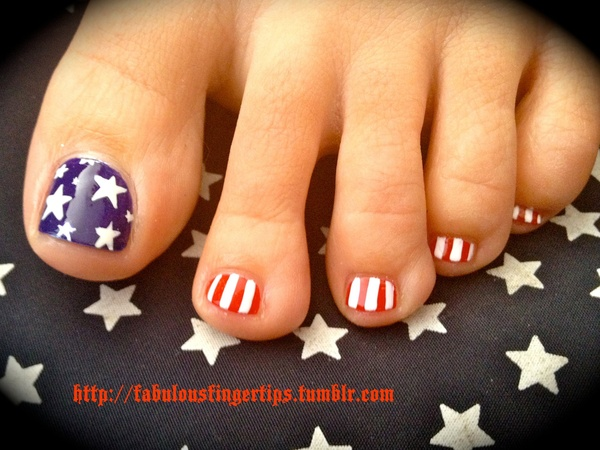 Wear A Patriotic Pedicure This 4th Of July : Everything