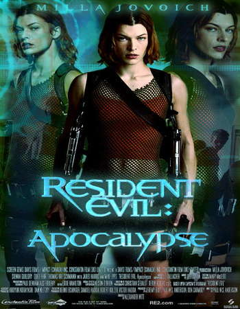 Poster Of Resident Evil Apocalypse 2004 Hindi Dual Audio 450MB BRRip 720p HEVC Free Download Watch Online downloadhub.in