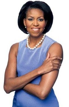 Foto de Michelle Obama con cabello lacio