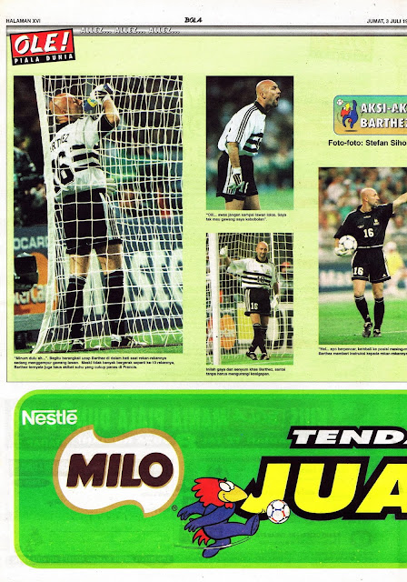 WORLD CUP 1998 FABIEN BARTHEZ FRANCE GOALKEEPER