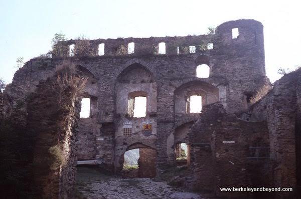 castle ruins at Schloss Rheinfels in Schlossberg, Germany