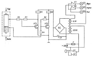 Электрическая схема сигнализатора уровня